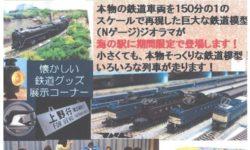 海の駅九十九里 鉄道模型が開通です♪